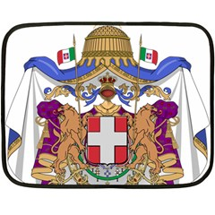Greater Coat Of Arms Of Italy, 1870 1890 Double Sided Fleece Blanket (mini)  by abbeyz71