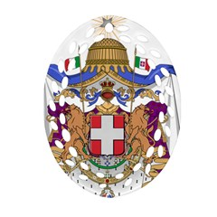 Greater Coat Of Arms Of Italy, 1870 1890 Oval Filigree Ornament (two Sides) by abbeyz71
