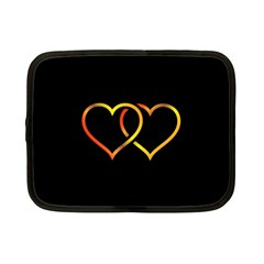 Heart Gold Black Background Love Netbook Case (small)  by Nexatart