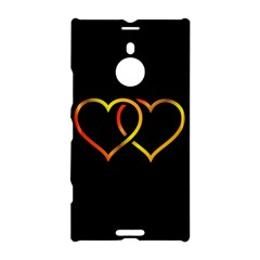 Heart Gold Black Background Love Nokia Lumia 1520 by Nexatart