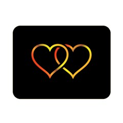 Heart Gold Black Background Love Double Sided Flano Blanket (mini)  by Nexatart
