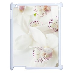Orchids Flowers White Background Apple Ipad 2 Case (white) by Nexatart