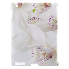 Orchids Flowers White Background Apple Ipad 3/4 Hardshell Case (compatible With Smart Cover) by Nexatart