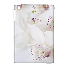 Orchids Flowers White Background Apple Ipad Mini Hardshell Case (compatible With Smart Cover) by Nexatart