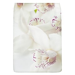 Orchids Flowers White Background Flap Covers (s)  by Nexatart