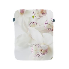 Orchids Flowers White Background Apple Ipad 2/3/4 Protective Soft Cases by Nexatart