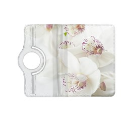 Orchids Flowers White Background Kindle Fire Hd (2013) Flip 360 Case by Nexatart