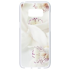 Orchids Flowers White Background Samsung Galaxy S8 White Seamless Case by Nexatart