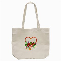 Heart Flowers Sign Tote Bag (cream) by Nexatart