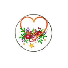 Heart Flowers Sign Hat Clip Ball Marker (10 Pack) by Nexatart