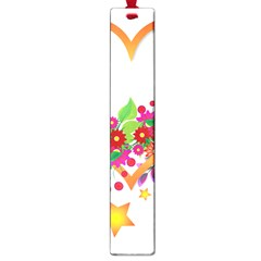 Heart Flowers Sign Large Book Marks by Nexatart