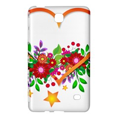 Heart Flowers Sign Samsung Galaxy Tab 4 (8 ) Hardshell Case  by Nexatart