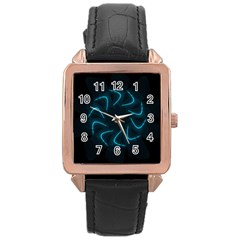 Background Abstract Decorative Rose Gold Leather Watch  by Nexatart