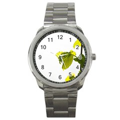 Leaves Nature Sport Metal Watch by Nexatart