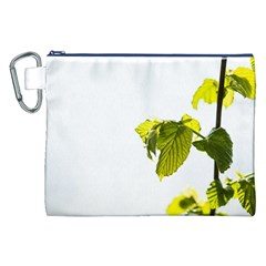 Leaves Nature Canvas Cosmetic Bag (xxl) by Nexatart