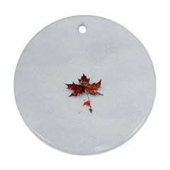 Winter Maple Minimalist Simple Ornament (round) by Nexatart