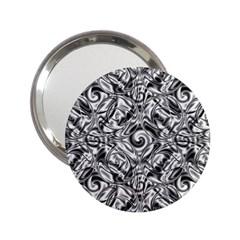 Gray Scale Pattern Tile Design 2 25  Handbag Mirrors by Nexatart