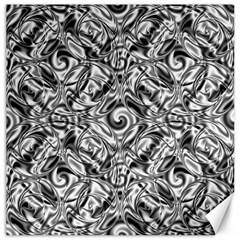 Gray Scale Pattern Tile Design Canvas 12  X 12   by Nexatart