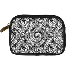 Gray Scale Pattern Tile Design Digital Camera Cases by Nexatart