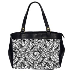 Gray Scale Pattern Tile Design Office Handbags (2 Sides)  by Nexatart