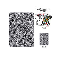 Gray Scale Pattern Tile Design Playing Cards 54 (mini)  by Nexatart