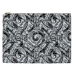 Gray Scale Pattern Tile Design Cosmetic Bag (xxl)  by Nexatart