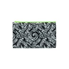 Gray Scale Pattern Tile Design Cosmetic Bag (xs)