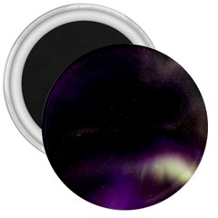 The Northern Lights Nature 3  Magnets by Nexatart