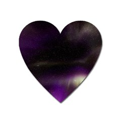 The Northern Lights Nature Heart Magnet by Nexatart