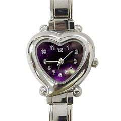 The Northern Lights Nature Heart Italian Charm Watch by Nexatart