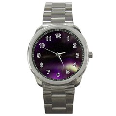 The Northern Lights Nature Sport Metal Watch by Nexatart