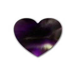 The Northern Lights Nature Rubber Coaster (heart)  by Nexatart
