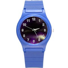 The Northern Lights Nature Round Plastic Sport Watch (s) by Nexatart