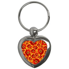 Gerbera Flowers Nature Plant Key Chains (heart)  by Nexatart
