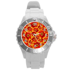 Gerbera Flowers Nature Plant Round Plastic Sport Watch (l) by Nexatart