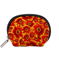Gerbera Flowers Nature Plant Accessory Pouches (small)  by Nexatart