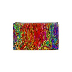 Background Texture Colorful Cosmetic Bag (small)  by Nexatart