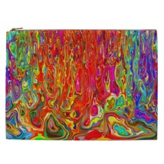 Background Texture Colorful Cosmetic Bag (xxl)  by Nexatart