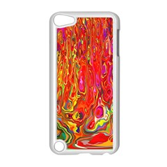 Background Texture Colorful Apple Ipod Touch 5 Case (white) by Nexatart