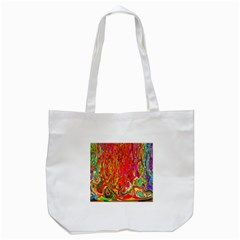 Background Texture Colorful Tote Bag (white) by Nexatart
