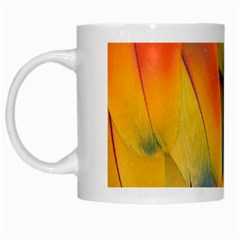 Spring Parrot Parrot Feathers Ara White Mugs by Nexatart
