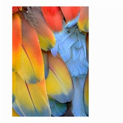 Spring Parrot Parrot Feathers Ara Small Garden Flag (two Sides) by Nexatart