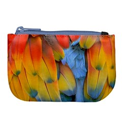 Spring Parrot Parrot Feathers Ara Large Coin Purse by Nexatart