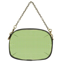 Gingham Check Plaid Fabric Pattern Chain Purses (one Side)  by Nexatart