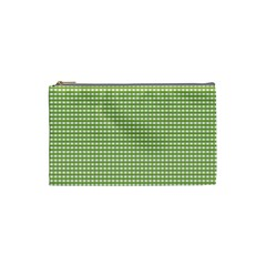 Gingham Check Plaid Fabric Pattern Cosmetic Bag (small)  by Nexatart