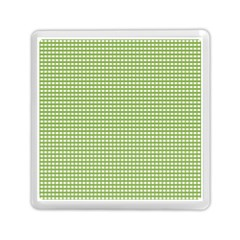 Gingham Check Plaid Fabric Pattern Memory Card Reader (square)  by Nexatart