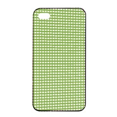 Gingham Check Plaid Fabric Pattern Apple Iphone 4/4s Seamless Case (black) by Nexatart