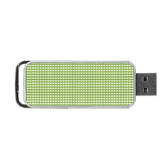 Gingham Check Plaid Fabric Pattern Portable Usb Flash (two Sides) by Nexatart