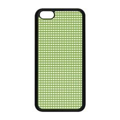 Gingham Check Plaid Fabric Pattern Apple Iphone 5c Seamless Case (black) by Nexatart