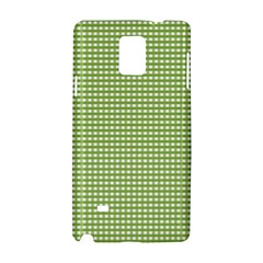 Gingham Check Plaid Fabric Pattern Samsung Galaxy Note 4 Hardshell Case by Nexatart